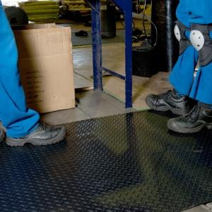 Rubber sheet matting